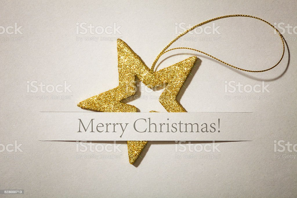Glitter Christmas Star - Card Greetings Business Backgrounds Photo stock photo