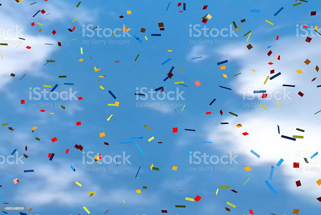 Glitter Confetti Background Stock Photo