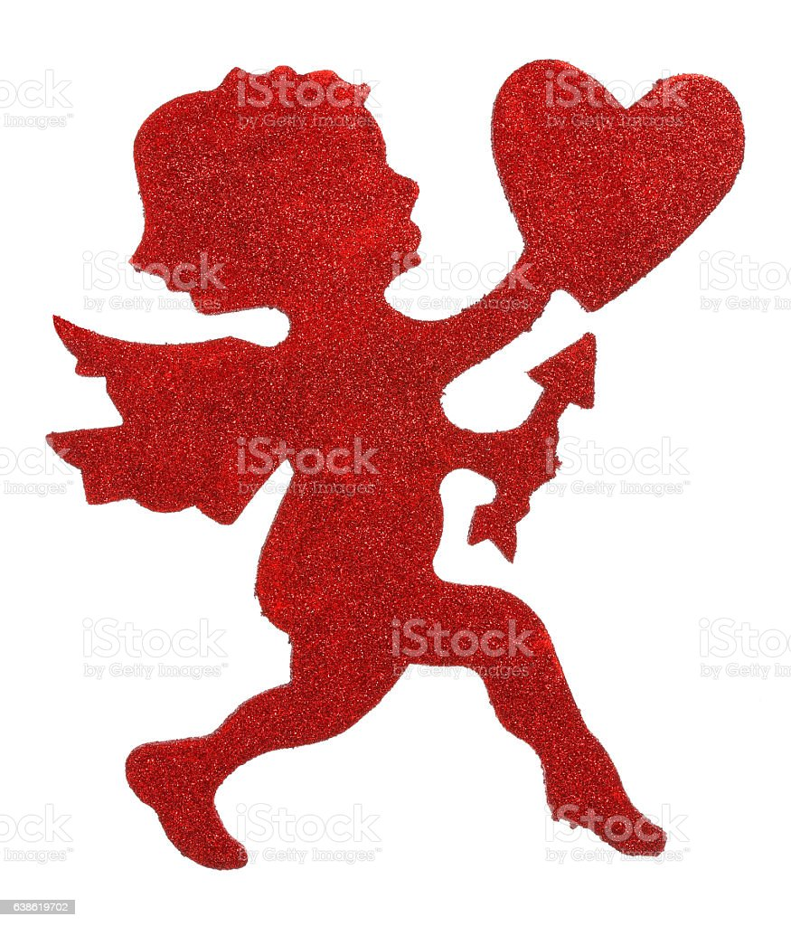 Glitter Cupid stock photo