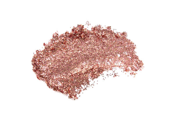 Glitter eye shadow or body smear isolated on white. Glitter eye shadow or body smear isolated on white. Beauty, fashion, festive and make up concept. stage make up stock pictures, royalty-free photos & images