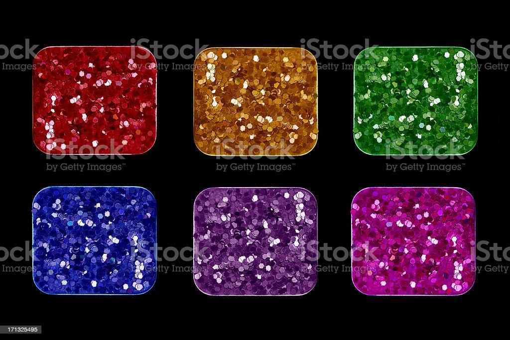 Glitter Eyeshadows stock photo