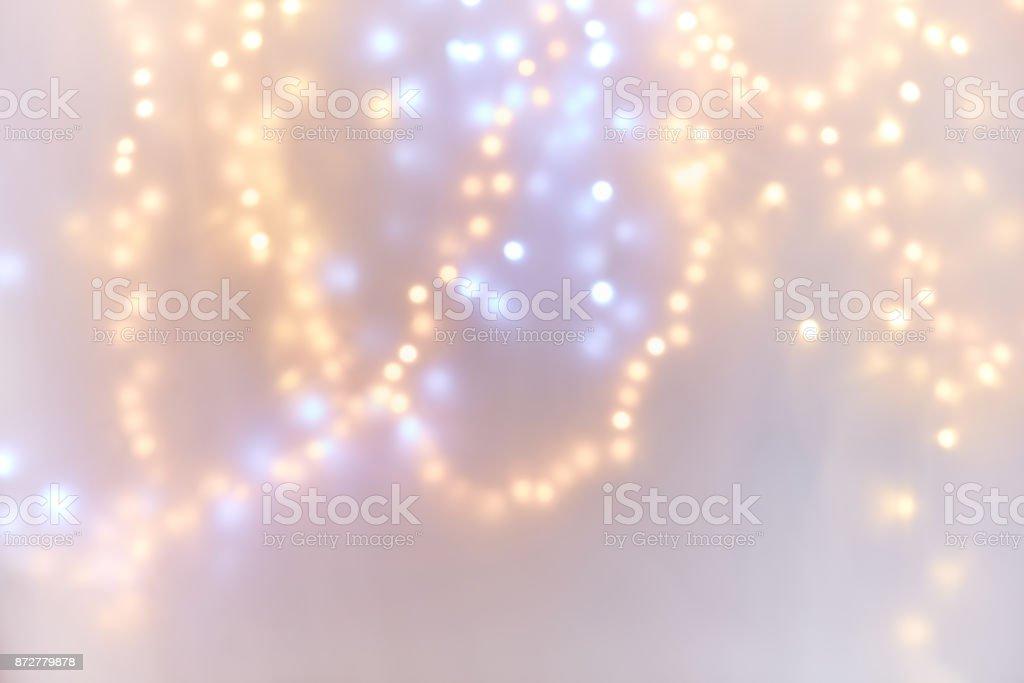 Glitter festive christmas lights background stock photo