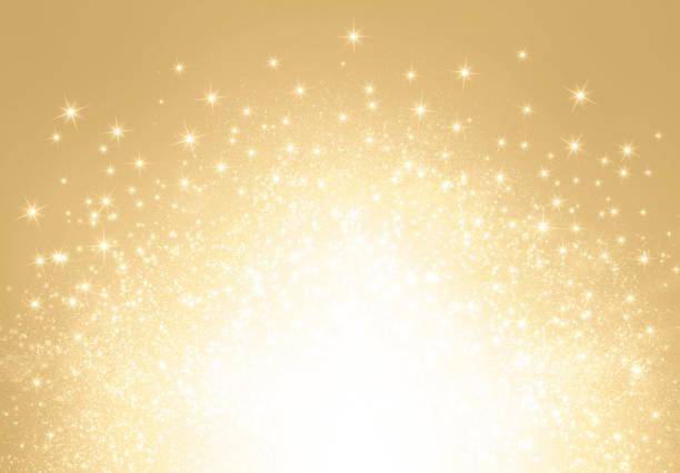 glitter gold explosion - erfolgreich wünschen stock-fotos und bilder