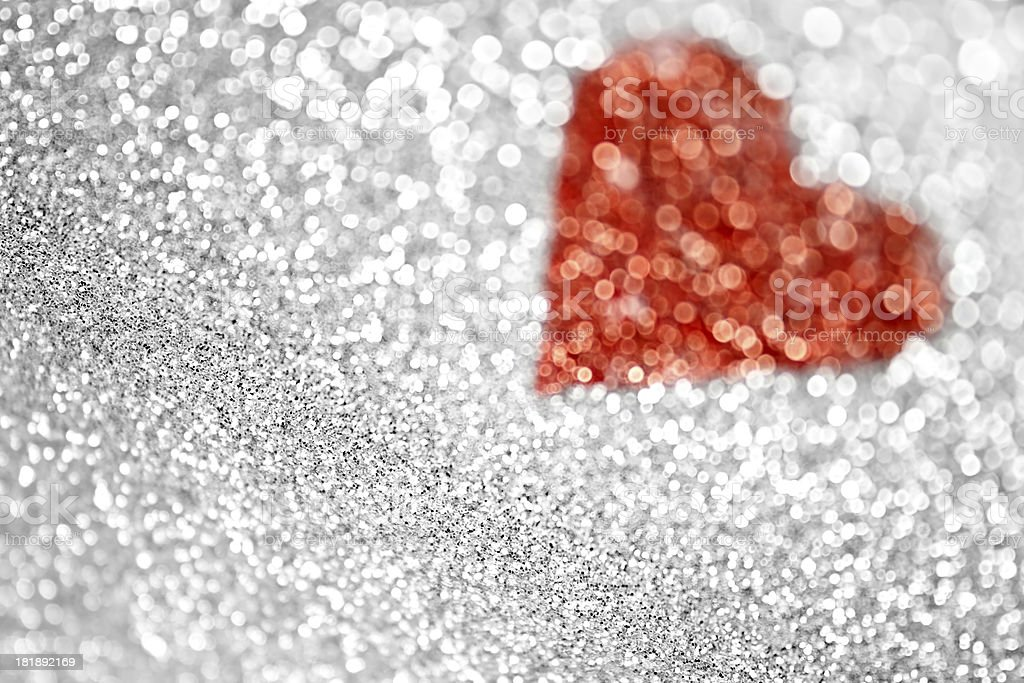 Glitter Heart Background royalty-free stock photo