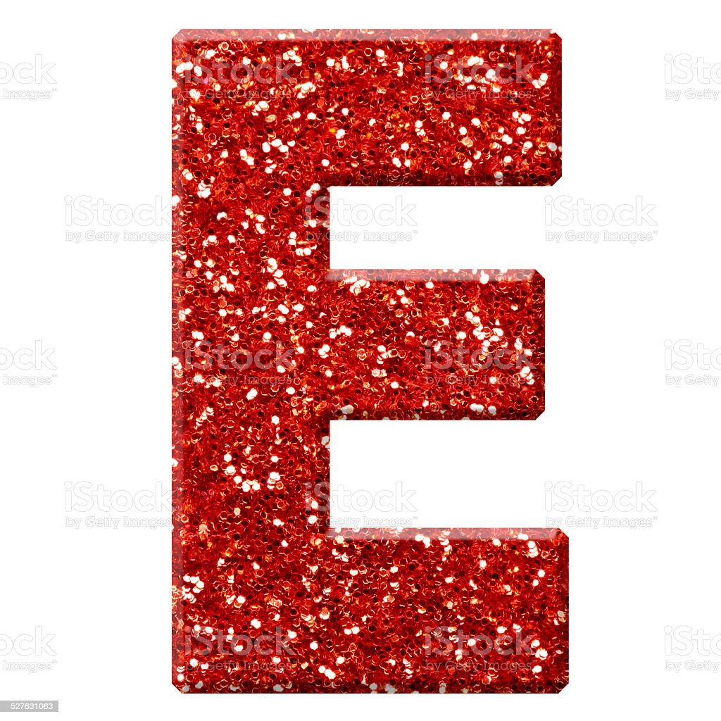 Glitter Letter E Stock Photo & More Pictures of Alphabet ...