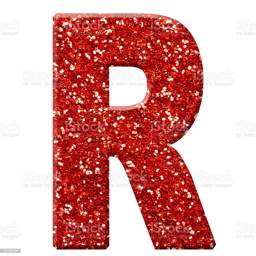 Glitter Letter R Stock Photo - Download Image Now