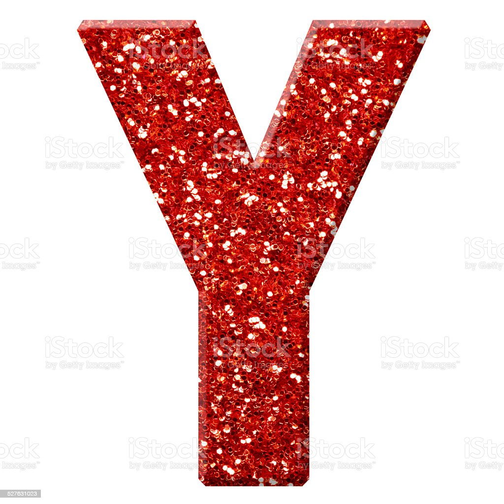 Glitter Letter Y Stock Photo - Download Image Now