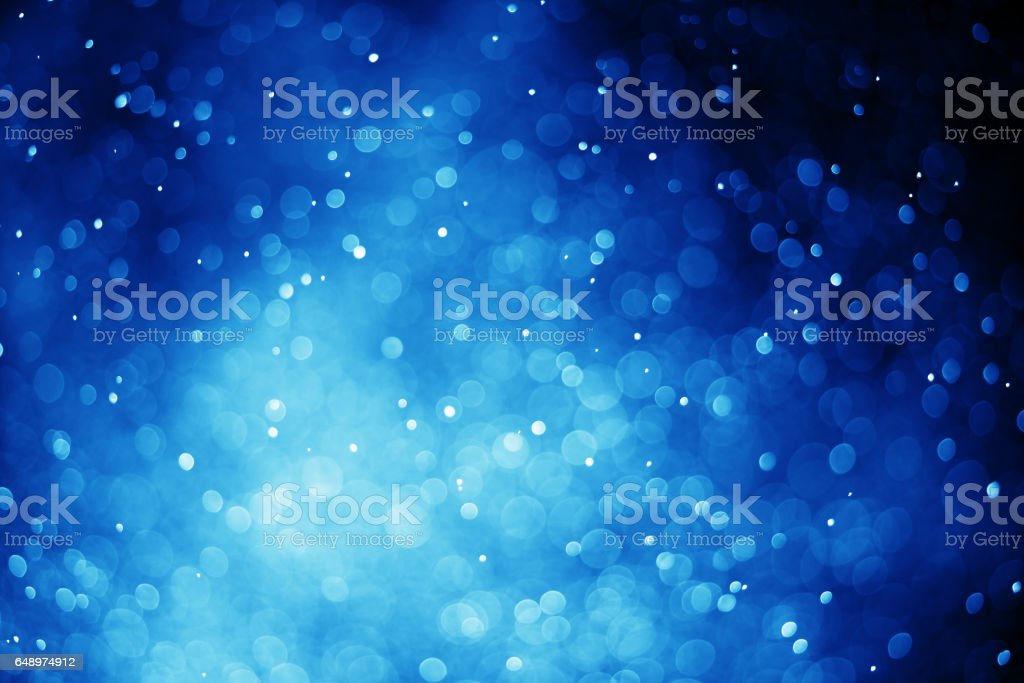 Glitter light blue bokeh blurred stock photo