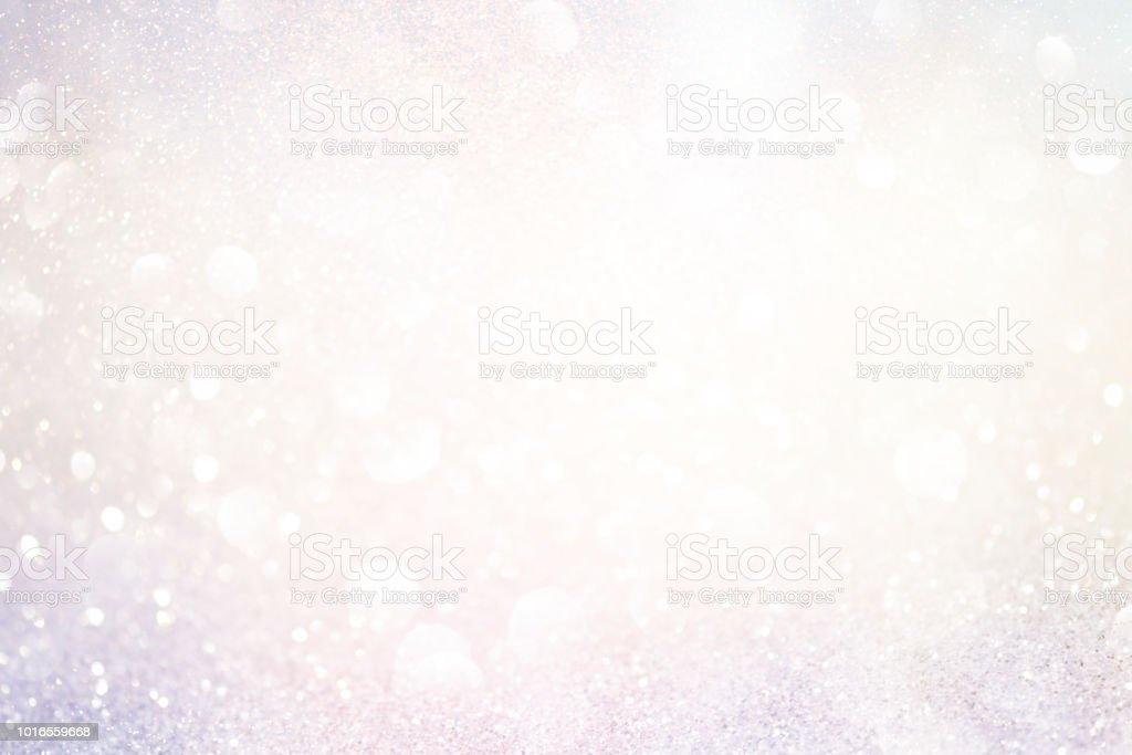 Glitzer-Lichter zu abstrakt, Hintergrund, Silber und weiß, Unscharf gestellt – Foto