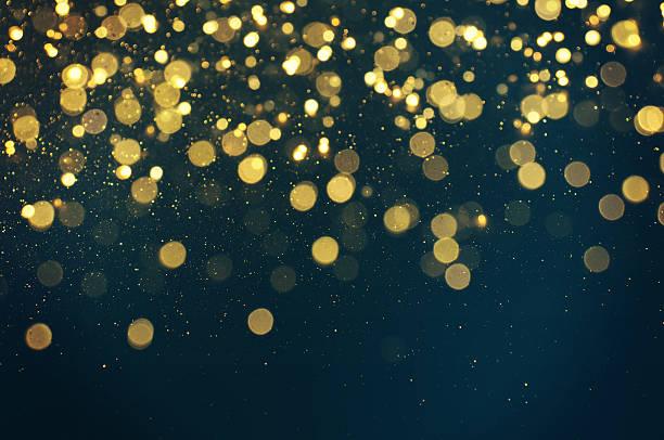 glitter lights background. defocused. stock photo