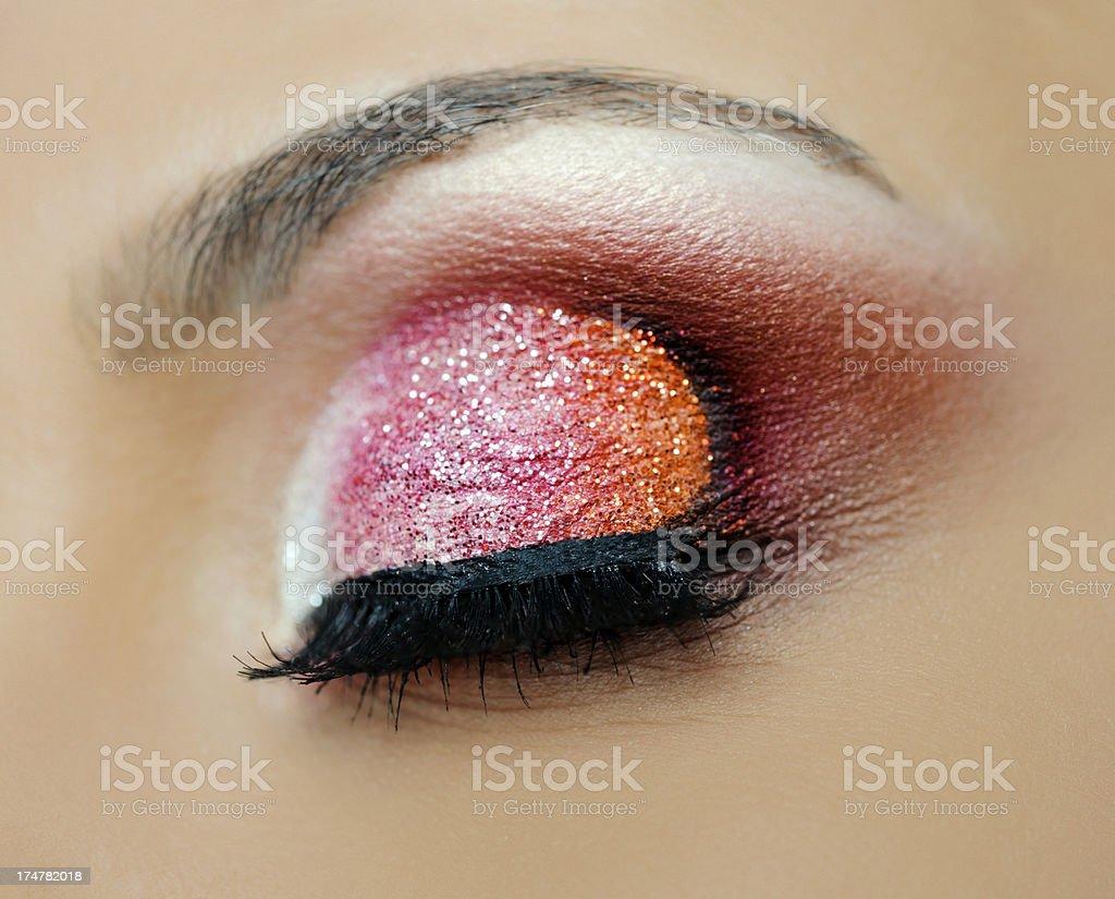glitter makeup royalty-free stock photo