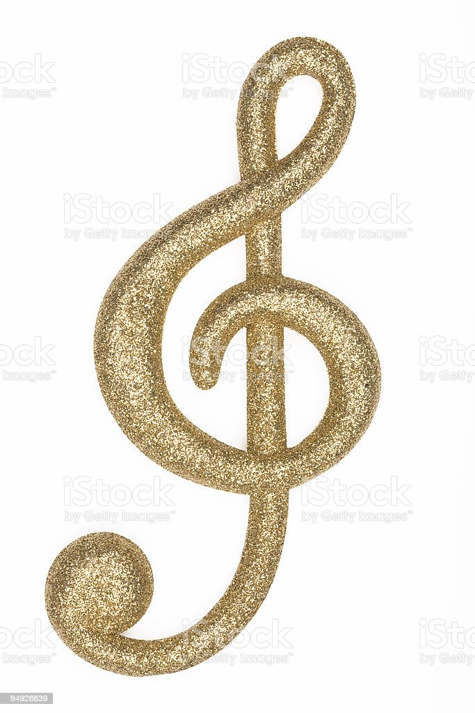 Glitter Music Note 2 stock photo
