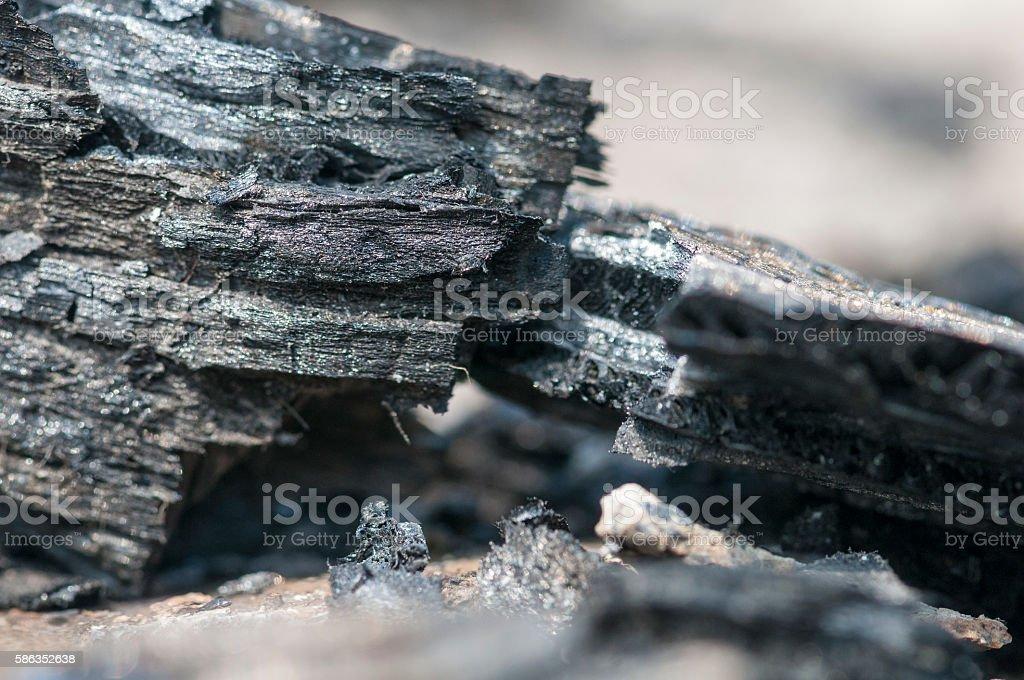 Glitter of carbonized cardboard stock photo