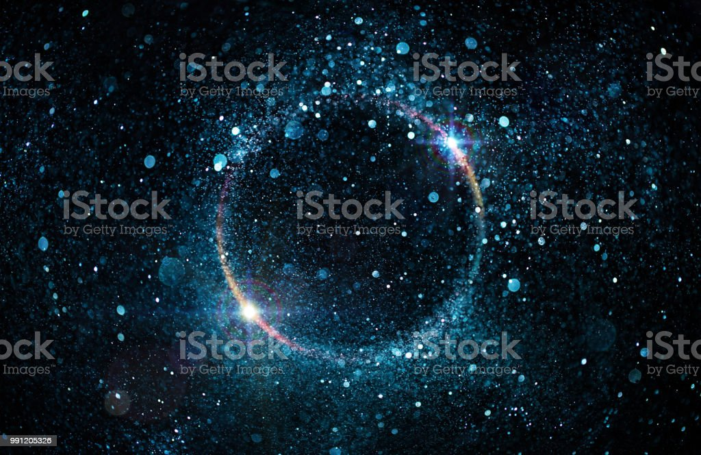 Glitter Particles In Circle - Abstract Black Hole royalty-free stock photo