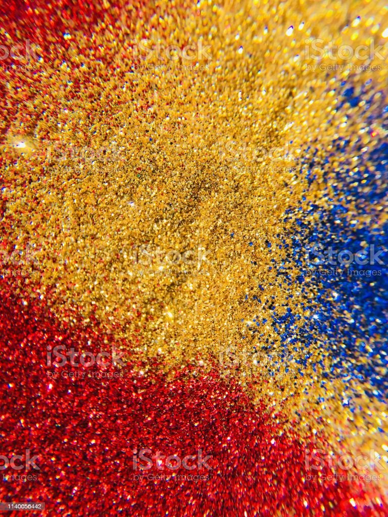 Glitter Sparkle And Texture Abstract Background Blue Red