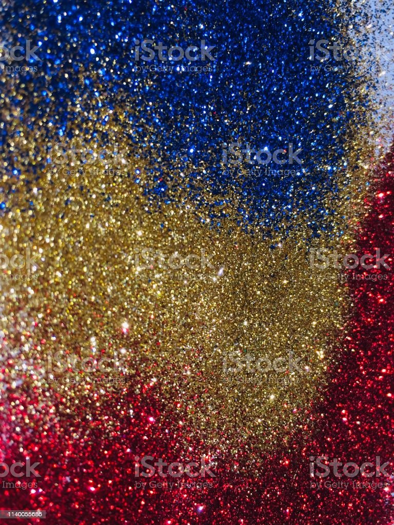 Glitter Sparkle And Texture Abstract Background Gold Blue