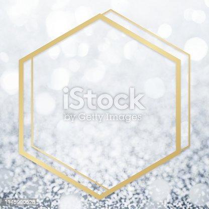 istock Glitter textured backdrop frame 1145990528