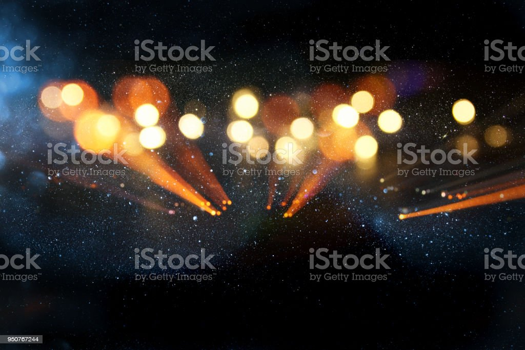 glitter vintage background. defocused. neon lights stock photo
