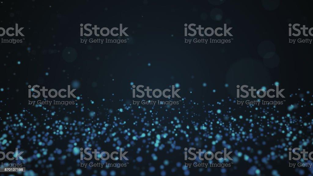 Glitter vintage lights background. Blue defocused backdrop stock photo