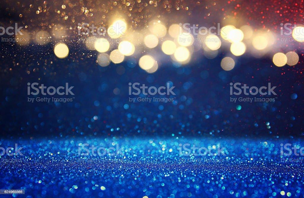 glitter vintage lights background. de-focused stock photo