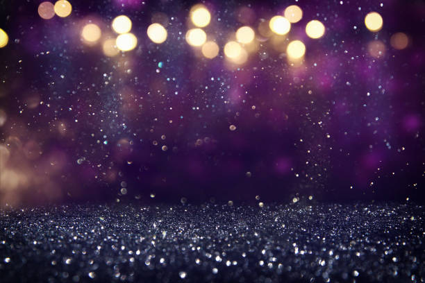 glitter vintage lights background. de-focused - scintillante foto e immagini stock