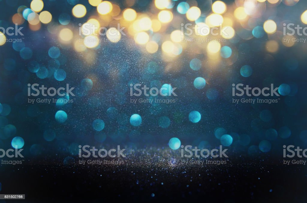 glitter vintage lights background. defocused stock photo
