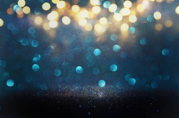 glitter vintage lights background. defocused stock photo