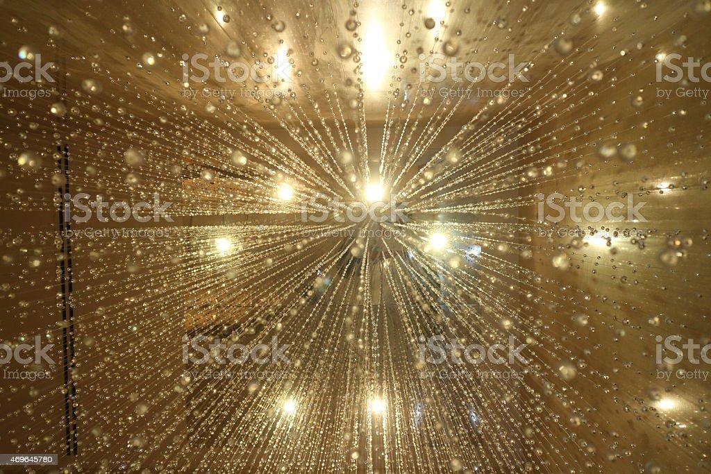 glitter vintage lights background. stock photo