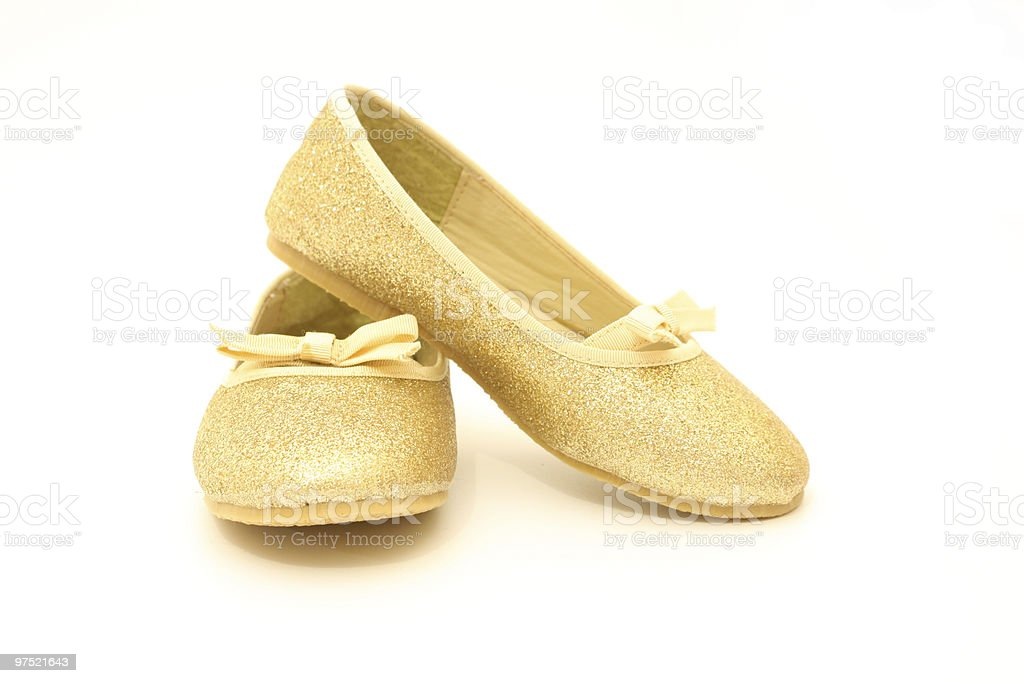 Glittering dancing shoes royalty-free stock photo