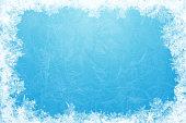 istock Glittering ice frame 472163939