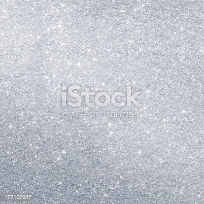 istock Glittering silver background 177107017