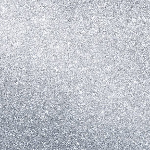 Glittering silver background stock photo