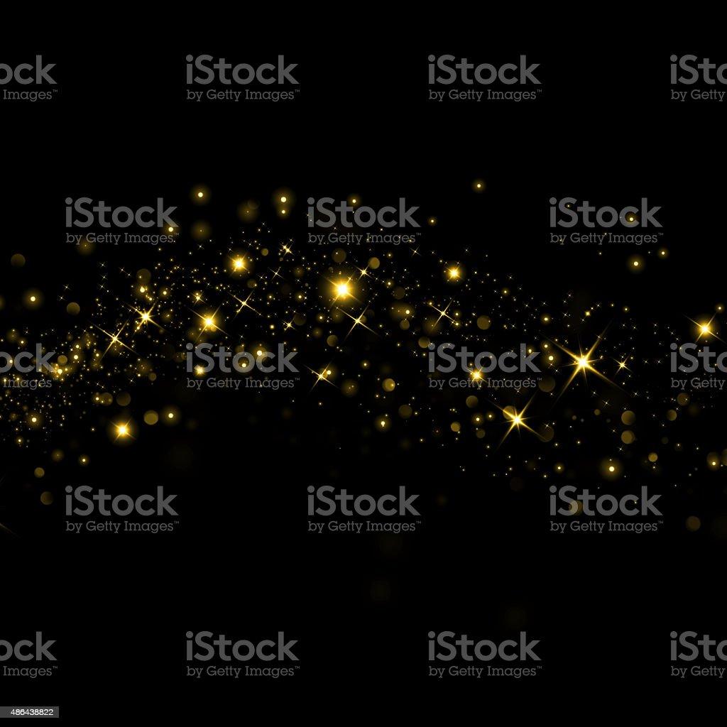 Estrelas brilhantes com bokeh de fundo - foto de acervo