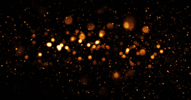 Glittery Defocused Lights Background stock photo