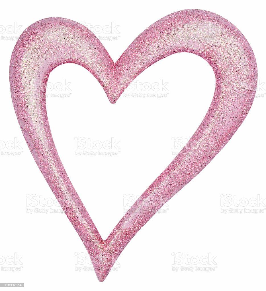 Glittery Pink Heart Ornament stock photo
