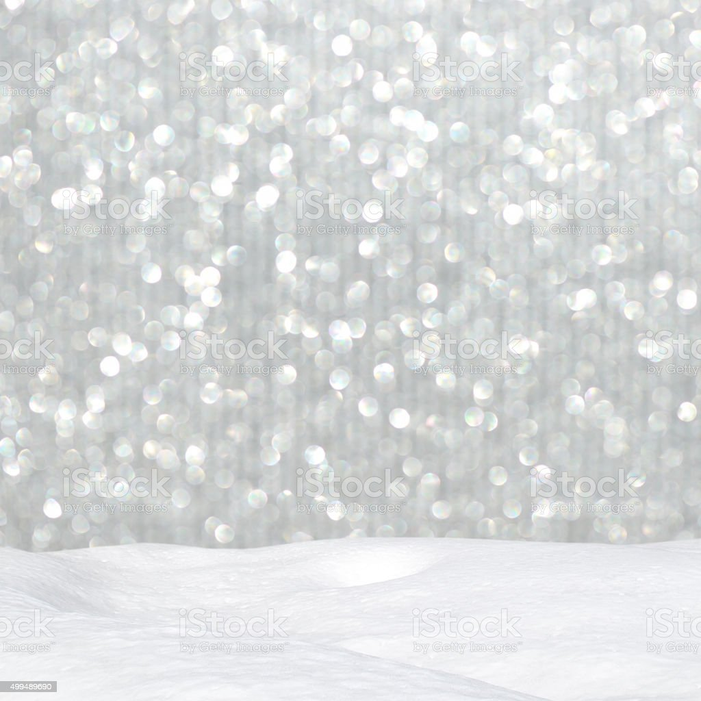 glittery shiny lights silver christmas background and snow royalty free stock photo - Silver Christmas Lights