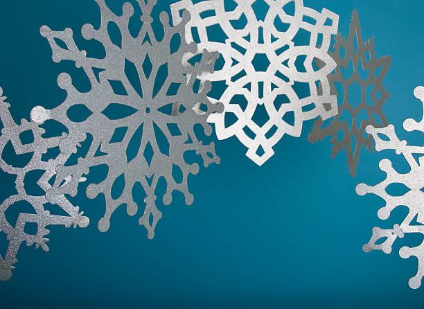 Glittery Snowflakes stock photo