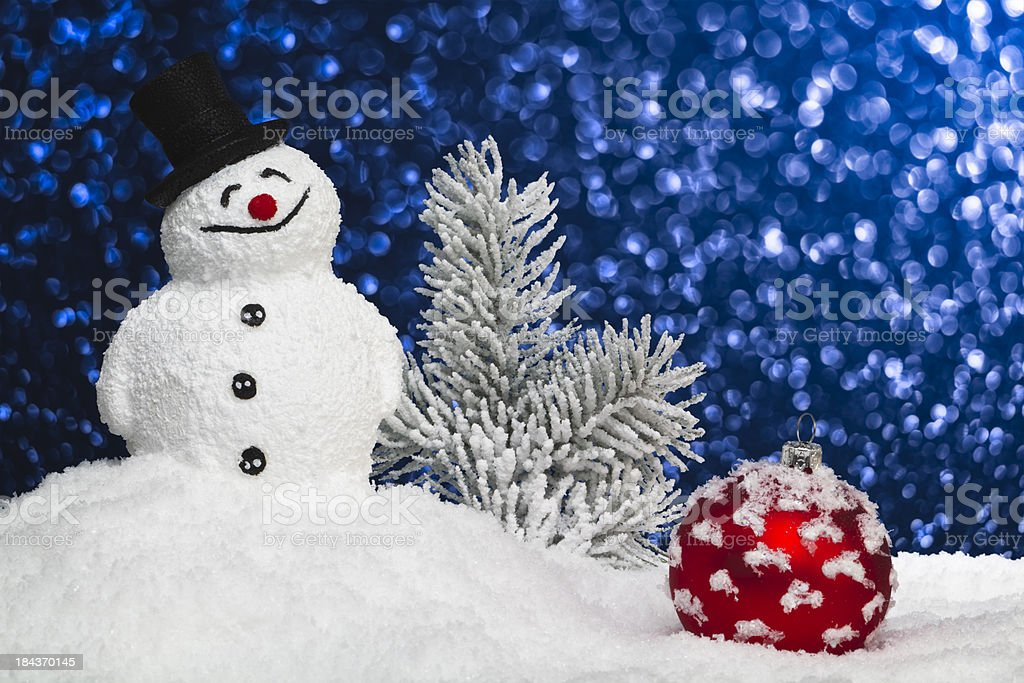 Glittery Snowman royalty-free stock photo