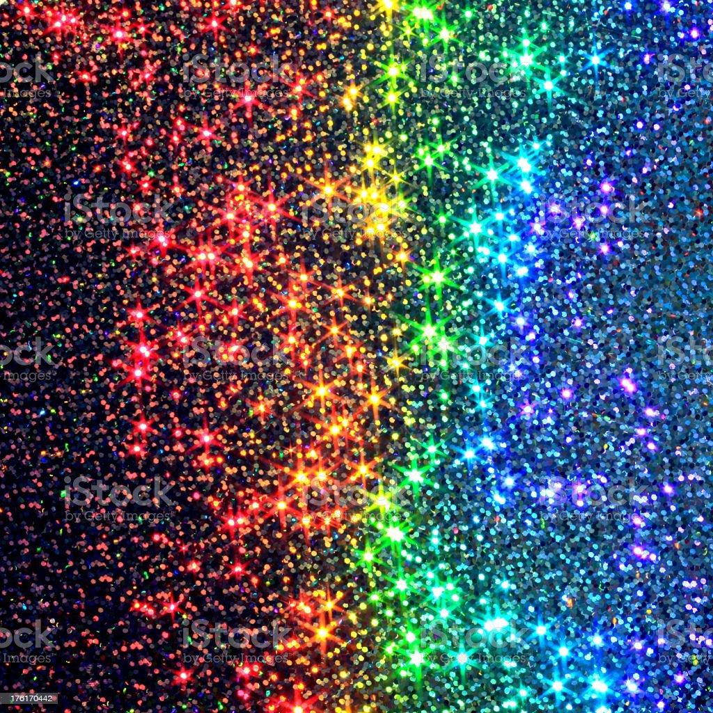 Glittery Stars Rainbow stock photo