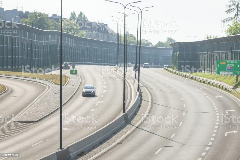 Gliwice, Poland, Central or diametral Higway stock photo