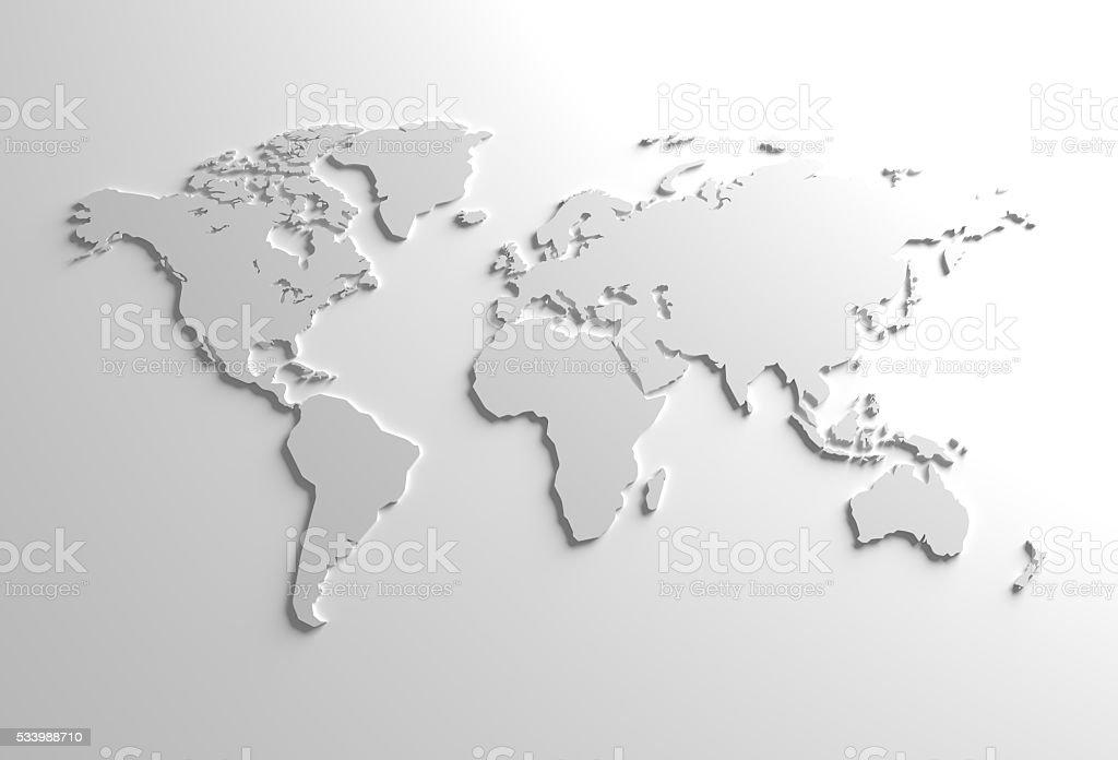 Global 3D Map Illustration stock photo