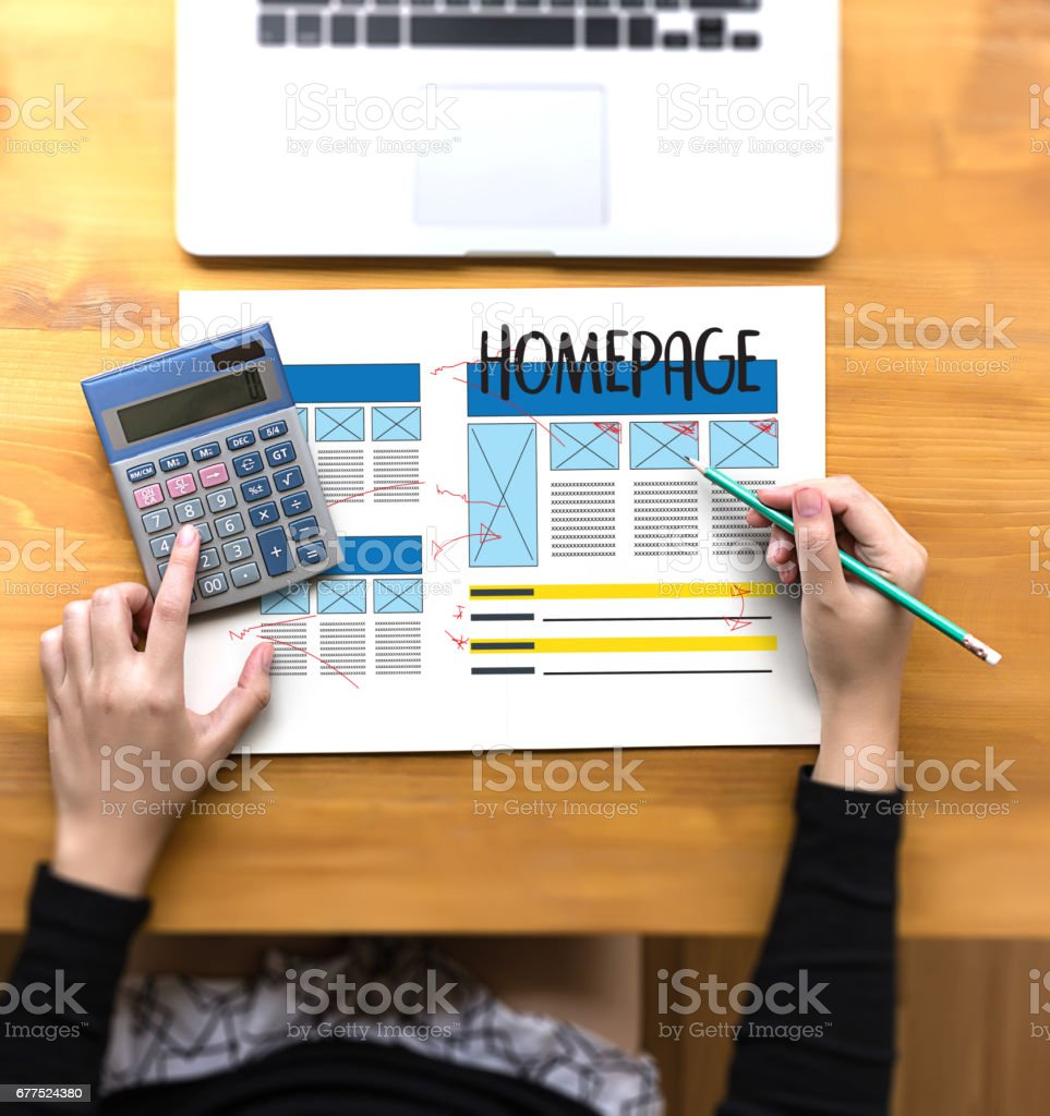 HOMEPAGE Global Address Browser Internet Website Design Software Media WWW  Domain HTML Innovation Technology Homepage stock photo