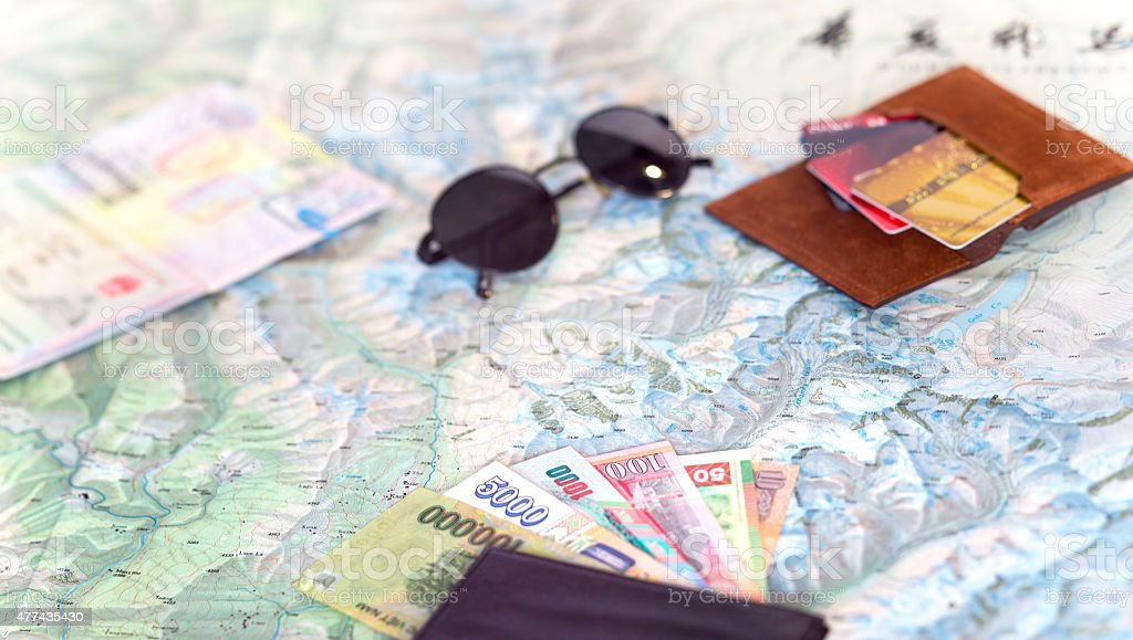 Global adventure background stock photo