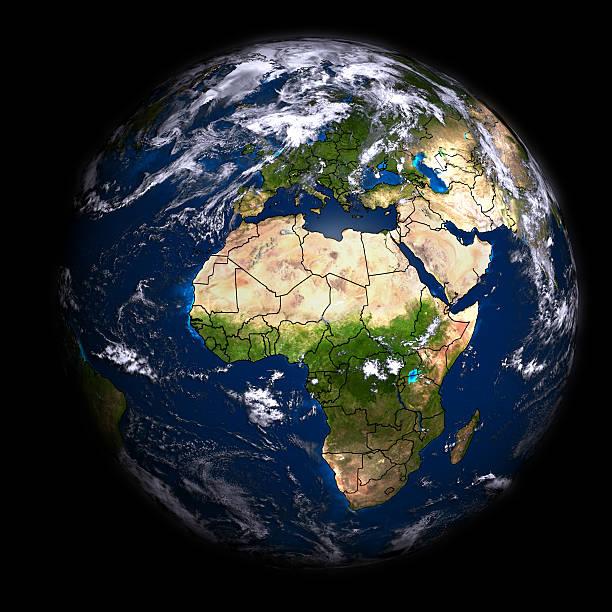 Global Luftaufnahme, die geografische Grenzen – Foto