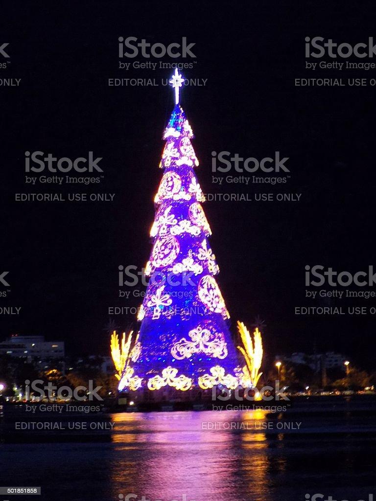 Fotos De Navidad En Brasil.Global Y Local De Turismo Flotante Arbol De Navidad En