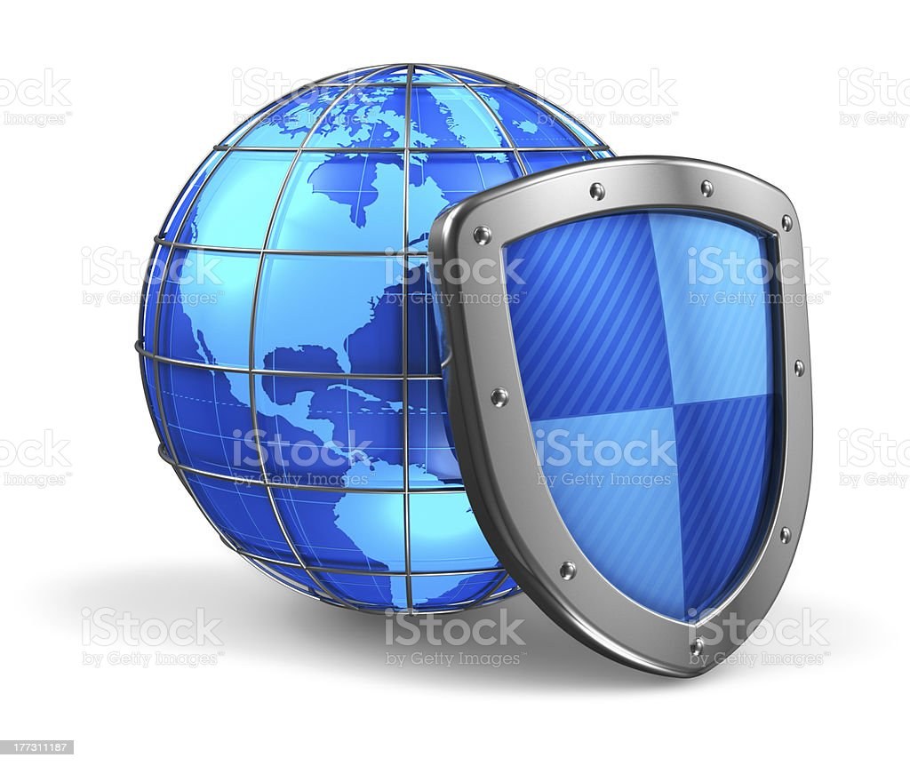 Global and internet security concept royalty-free stock photo