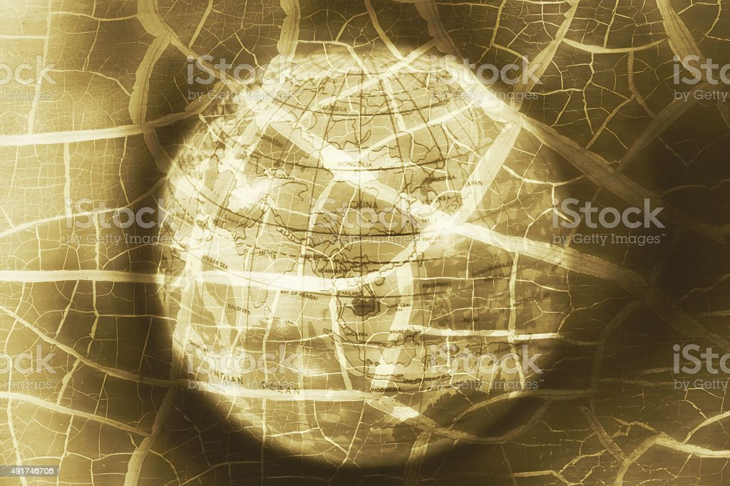 global ball toy, breakdown of asia crisis, abstract photo stock photo