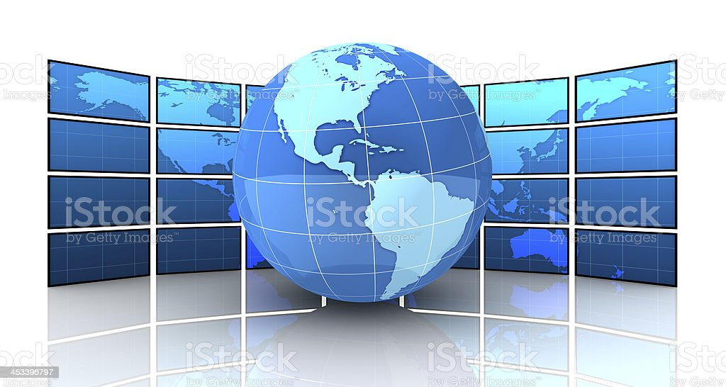Global broadcast royalty-free stock photo