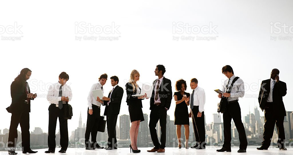 Global busines people in the City royalty-free stock photo