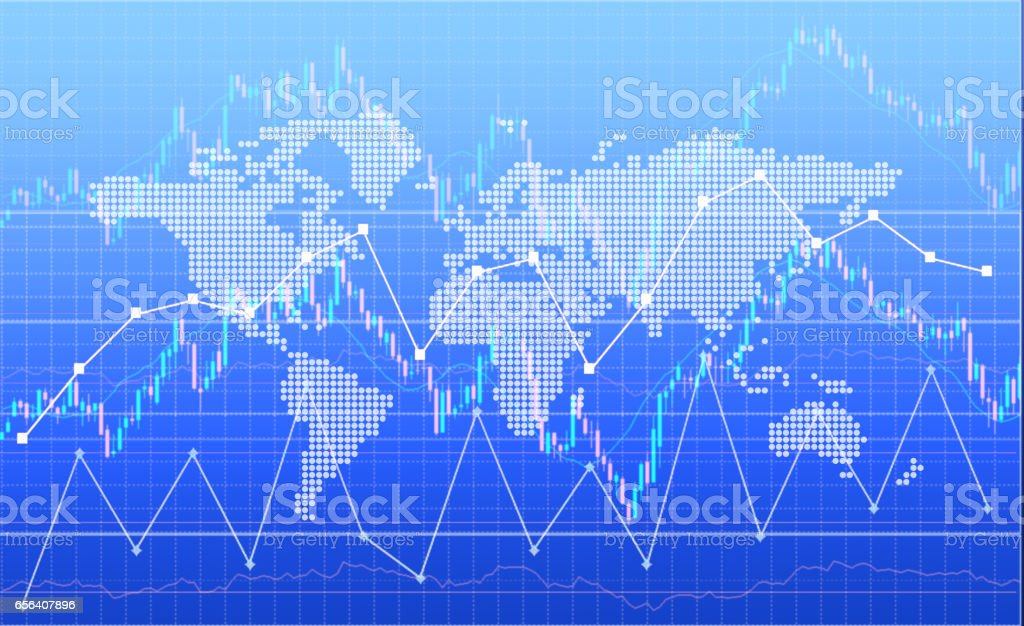 Global business and finance background stock photo
